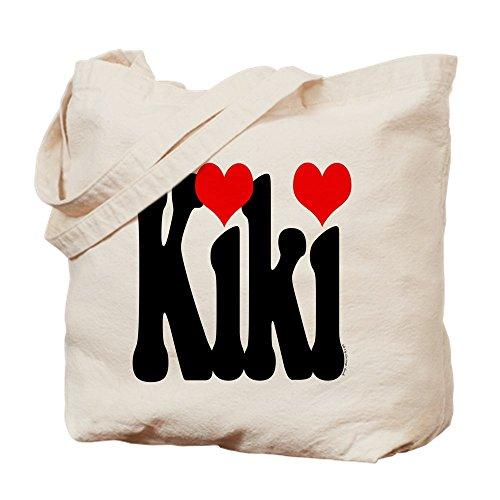 CafePress–I Love KIKI–Gamuza de bolsa de lona bolsa, bolsa de la compra Small caqui