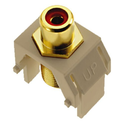 Price comparison product image On-Q/Legrand RCA to F-Type Coax Keystone Connector, Almond LOT OF 7