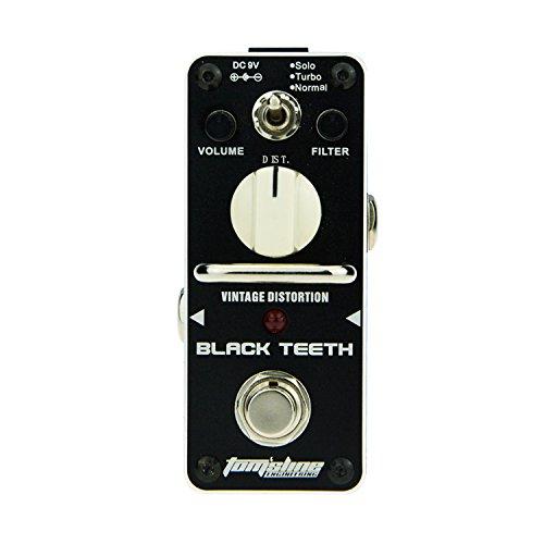 Tom'sline Engineering BLACK TEETH 변형(distortion) PROCO RAT 기타용 이펙터 페달 patent 디자인・노브 움직이는 방지