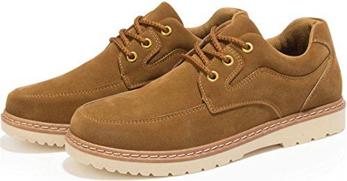 Ppxid Para Hombre De Antelina Británica Con Cordones Zapatos De Trabajo Informal Zapatos De Registro Camello