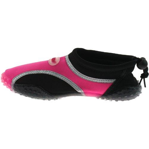 Pour caisses enregistreuses et imprimantes B823Q Aqua Chaussures de plage pour fille Noir/fuchsia Taille UK10–Pointure 39