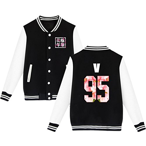 Bts Baseball Jacket Uniform Bangtan Boys Suga Jin Jimin Jung Kook Sweater Coat S Black V