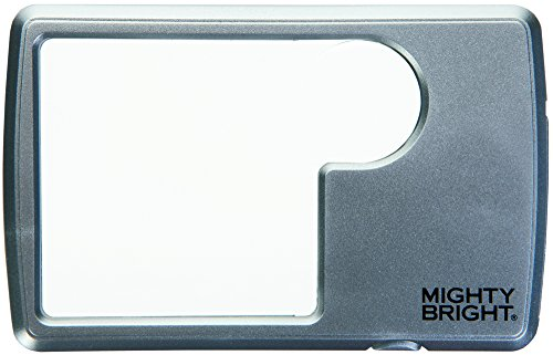 Mighty Bright 87022 Lighted Wallet Magnifier, Silver Lighted Wallet Magnifier