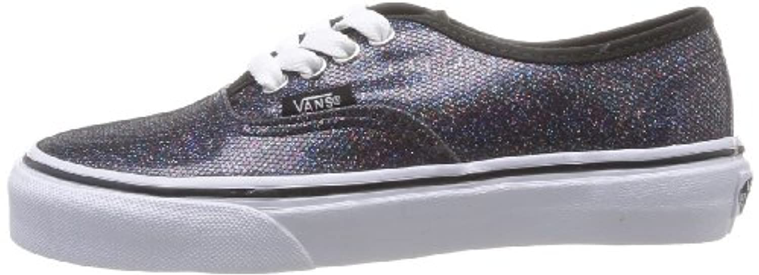 Vans Authentic, Unisex-Childs' Low-Top Trainers, Black (iridescent Glitter Black), 12 Child UK