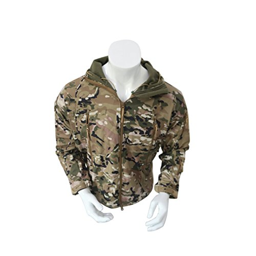 Men's Army Outdoor Military Special Ops Softshell Tactical Hooded Jacket Sports Windproof Hunting Jacket Multicam