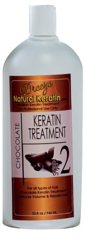 Brazilian Hair Treatment Chocolate Keratin Complex 16 oz - Step 2 by Breeze Natural Keratin