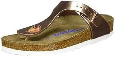 Birkenstock Australia Women's Gizeh SFB Sandals, Metallic Copper, 41 EU