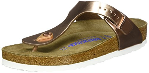 Birkenstock Women's Gizeh Soft Cork Footbed Thong Sandal Copper 37 M EU by Birkenstock