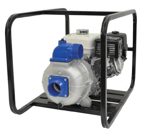 "AMT Pump 3S5XHR Engine Driven Self-Priming Trash Pump with Honda GX160 Engine, Aluminum, 5 HP, Curve B, 3"" NPT Male Suction & Discharge Ports"
