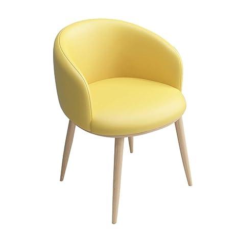 Zcxbhd Retro Comedor Silla, PU Cuero Soft Cushion sillón ...