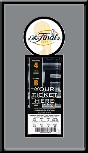 2007 NBA Finals Single Ticket Frame - San Antonio Spurs Champions by That's My Ticket