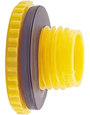 Heyiarbeit 10Pcs M22 Hex Socket Design PE Plastic Male Threaded Sealing Cap Hold Plugs With Washer for Seal Hoses Yellow