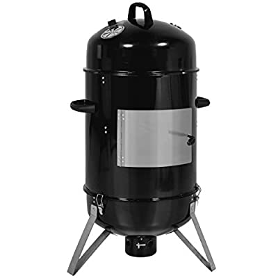 Best Choice Products 43in 3-Piece Outdoor BBQ Charcoal Vertical Design Smoker - Black