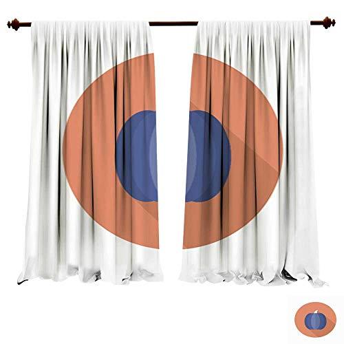 Blackout Curtain Panels Pumpki icon Vector Flat Long Shadow Design EPS15 Thermal Insulating,Panels,Drapes - Xtra Large Flat Panel