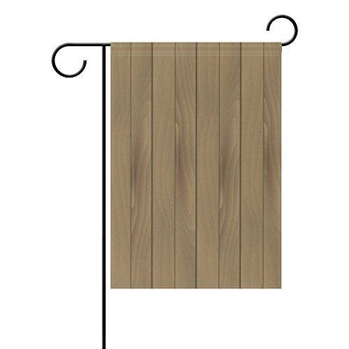 """LEISISI DD Wood Grain Background Garden flag 28""""X40"""" Two Sid"""