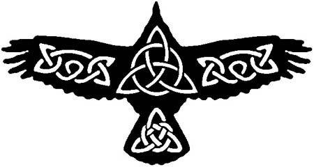 Tatuaje celta de Crow, vinilo adhesivo pared arte decoraci-n-30 CM ...