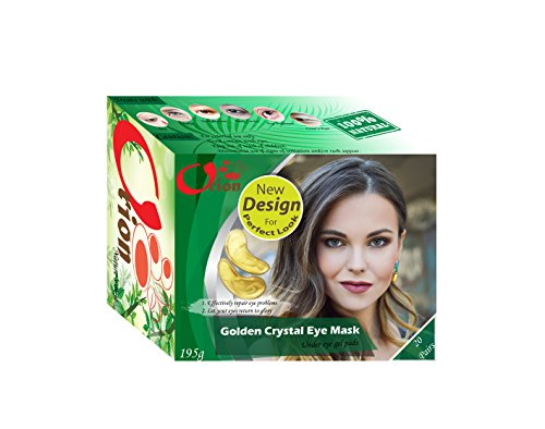 Orion Golden Crystal Eye Mask Under Eye Gel Pads - for Puffy Eyes, Bag Treatment Patches Collagen Gold Wrinkle Pad Treatments Puffiness Hydrogel