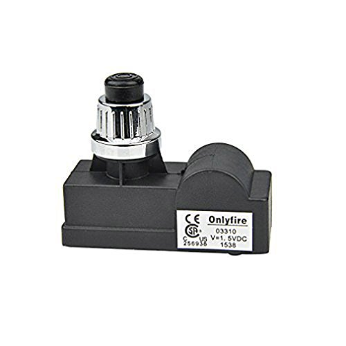 Onlyfire 14421 Spark Generator 1 Male Outlet Battery Push Button Igniter for Gas Grill Models by Amana, Uniflame, Surefire, Charmglow, Charbroil, Brinkmann, BBQ Pro and Others, Silver