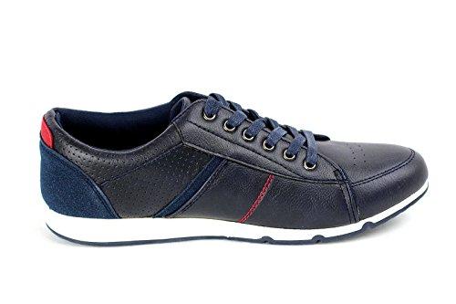 JAS - Zapatos de cordones de Material Sintético para hombre Regular, color Gris, talla 45 EU