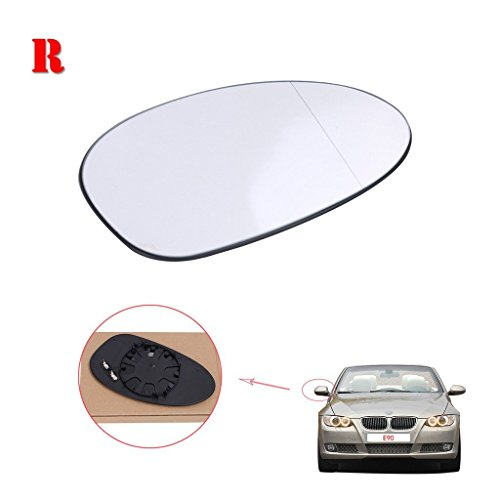 E90 Rear View Mirror Glass Lens Rearview Mirror Glass Side Mirror Glass For BMW 3 Series BMW E90 2005-2008 Pre-Facelift Models NOT M3 Right Side White (E39 Face Lift)