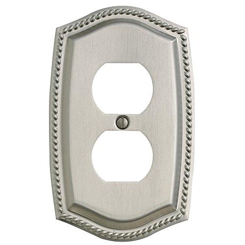 (Baldwin Estate 4789.150.CD Rope Duplex Wall Plate in Satin Nickel,)