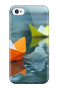 QvrPnlc9407okBKN Case Cover, Fashionable Iphone 4/4s Case - Colorful Paper Boats