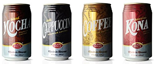(PACK OF 4 11 OZ. CANS) Royal Mills 4 Pack Sampler- Kona, Iced Coffee, Iced Cappuccino, Mocha Flavors