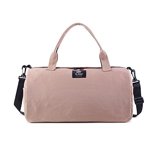 Amazon.com: Canvas Womens Travel Bags Yoga Gym Bag for ...