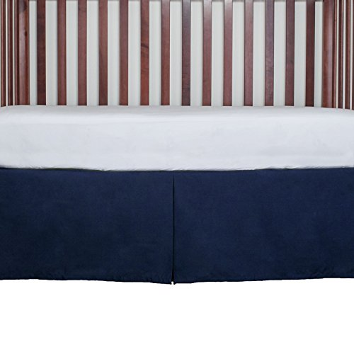 Tailored Crib Bed Skirt Dust Ruffle 15 inches long Color: Navy Blue from AB Lifestyles