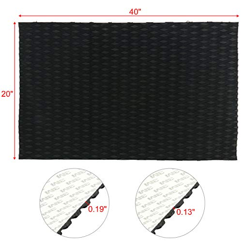 Amarine Made Universal Non-Slip Traction Pad Deck Grip Mat with Trimmable EVA Sheet 3M Adhesive for Boat Decks, Kayaks, Surfboards,Skimboards (40in x 20in,Black)
