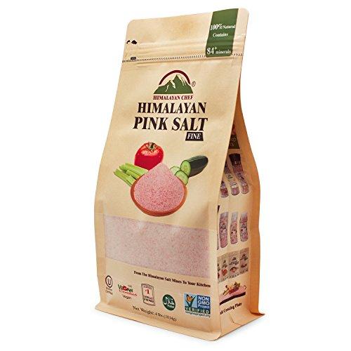 Himalayan Chef Pink Gourmet Himalayan salt, 4 lbs Fine Grains