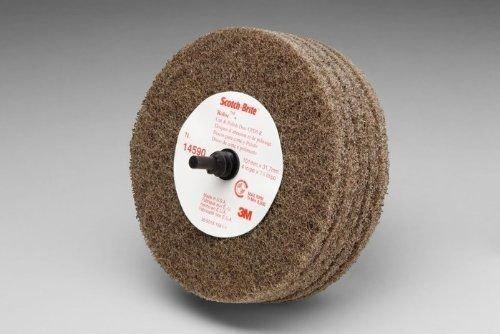 3M Scotch-Brite C5-ZR Non-Woven Aluminum Oxide Quick Change Disc - Medium Grade - 4 in Dia 1 1/4 in Center Hole - 8000 Max RPM - 14590 [PRICE is per DISC]