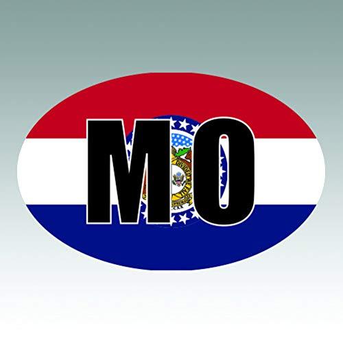 Missouri Workshop Photo - RDW Missouri State Flag Oval V2 Sticker - Die Cut - Decal - MO - Size: 1.25