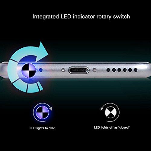 MagiDeal Control Remoto Inteligente de Audio de 3,5mm para IPhone 4 5 6 Plus - Oro Oro