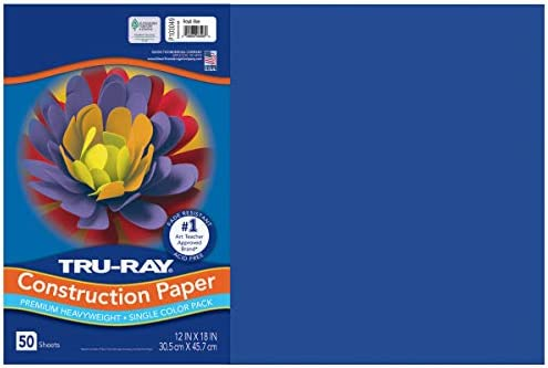 Tru-Ray Construction Paper 12 x 18 50 Sheets 10 Classic Colors 2 Pack