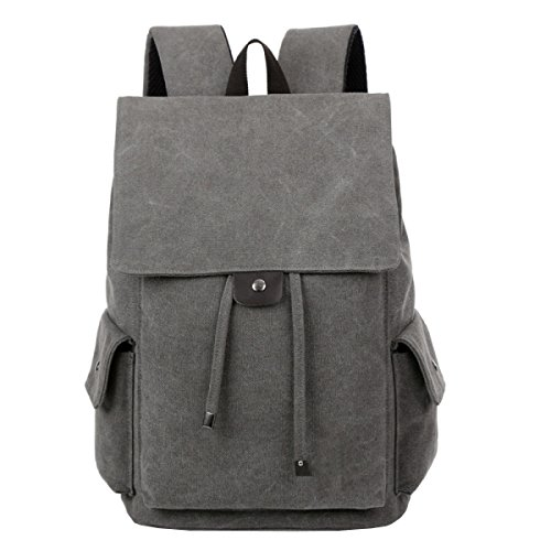Travel Retro purpose Grey Shoulder Leisure Multi Business Backpack Canvas Laidaye 86adq8
