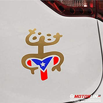 Brand new original coquí vinyl sticker with Puerto Rico/'s flag