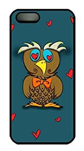 An Owl Falling In Love Designs For SamSung Galaxy S4 Phone Case Cover PC Material Black Kimberly Kurzendoerfer