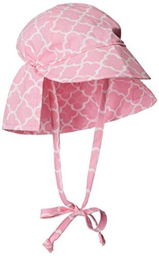 Flap Happy Baby-Girls Infant UPF 50+ Original Flap Hat with Ties, Trellis Pink, Medium