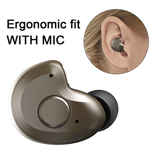 Bluetooth Headset, AngLink 0.13oz Only V4.1 Mini Bluetooth Earpiece Wireless Earpiece In-ear Mini Bluetooth Earbuds with Microphone Mic Hands-free for iPhone Samsung and Other Smartphones (0.13 Ounce 100% Natural)