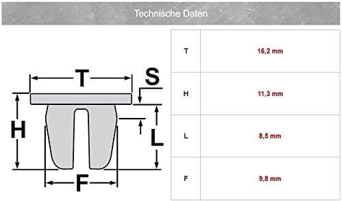 10/x Clips de fixation pour pare-chocs Fixation n91018901