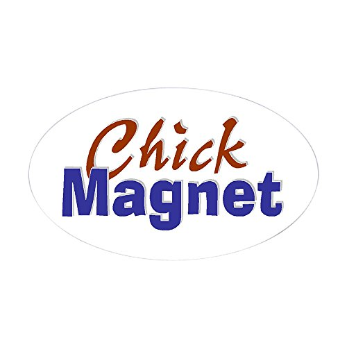 CafePress Chick Magnet Oval Sticker Oval Bumper Sticker, Euro Oval Car Decal