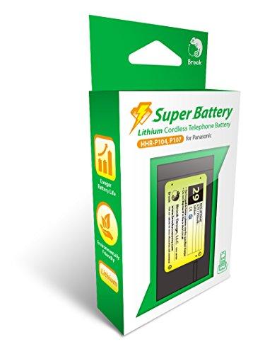 Brook Super Battery, 3.7V / 750mAh Lithium Cordless Phone Battery, support Panasonic HHR-P104, HHR-P107