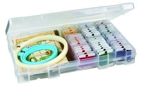 (ArtBin Solutions 4004AB Medium Box, 4-Compartment, Translucent Clear by ArtBin)