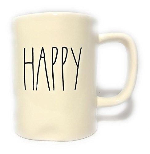 Rae Dunn HAPPY Ceramic Coffee Mug by Magenta