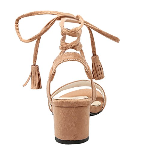 Ankle Strap High Heels Open Toe Pumps Chunky Gladiator Sandals By Dear Time Yellow BNIlBj2I