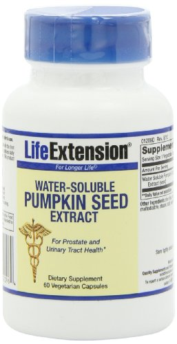 Life Extension Water-Soluble Pumpkin Seed Extract,, 60  Vegetarian Capsules