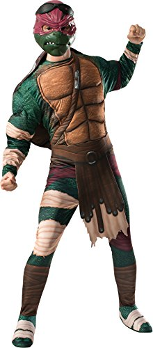 Rubie's Costume Men's Teenage Mutant Ninja Turtles Movie Deluxe Adult Muscle Chest Raphael, Multicolor, (Teenage Mutant Ninja Turtle Raphael Adult Mask)