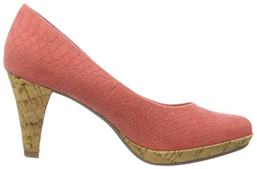 Toe Bugatti Women's W66746 White 301 Coral Heels Closed Red ttOq4Fw