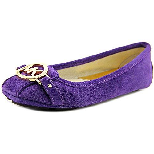 Michael Kors Womens Fulton Moc Suede Leather Ballet Flats [7.5] [Iris Purple]